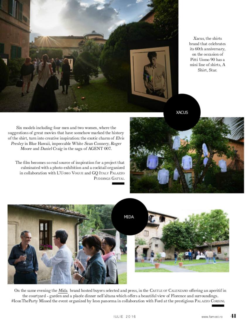REVISTA FAMOST magazine pitti uomo 90 eventi fashion mida firenze abbigliamento uomo